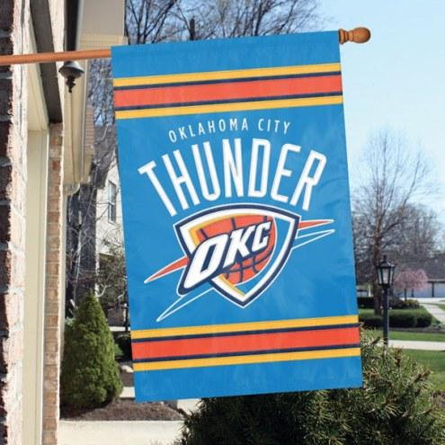 Oklahoma City Thunder Appliqué 2-Sided Banner Flag