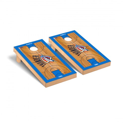 Oklahoma City Thunder Basketball Court Cornhole Game Set