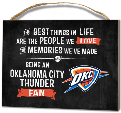 Oklahoma City Thunder Best Things Small Plaque