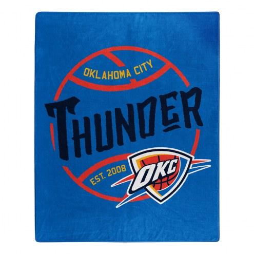 Oklahoma City Thunder Blacktop Raschel Throw Blanket