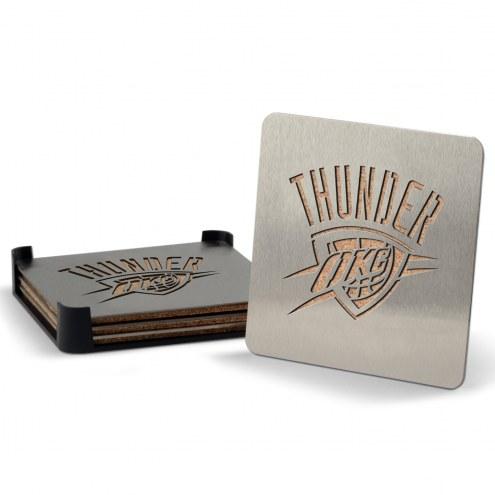Oklahoma City Thunder Boasters Stainless Steel Coasters - Set of 4