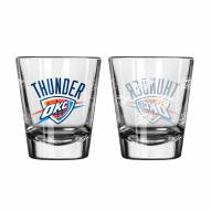 Oklahoma City Thunder Satin Etch Shot Glass Set