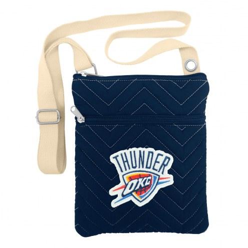 Oklahoma City Thunder Chevron Stitch Crossbody Bag