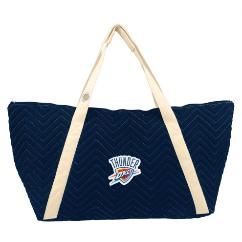 Oklahoma City Thunder Chevron Stitch Weekender Bag