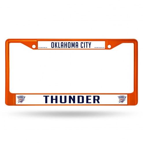 Oklahoma City Thunder Color Metal License Plate Frame