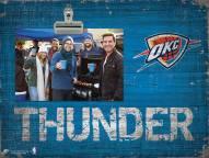 Oklahoma City Thunder Wood Clip Frame