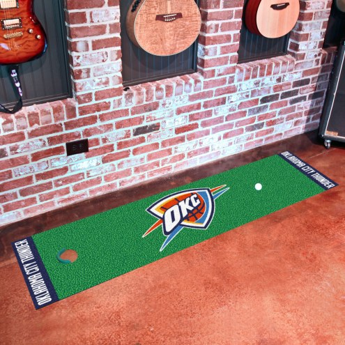 Oklahoma City Thunder Golf Putting Green Mat