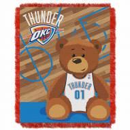 Oklahoma City Thunder Half Court Baby Blanket