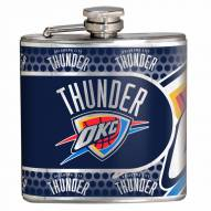 Oklahoma City Thunder Hi-Def Stainless Steel Flask