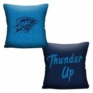 Oklahoma City Thunder Invert Woven Pillow