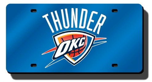 Oklahoma City Thunder Laser Cut Blue License Plate