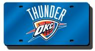 Oklahoma City Thunder Laser Cut Blue License Plate