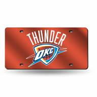 Oklahoma City Thunder Laser Cut License Plate