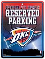 Oklahoma City Thunder Metal Parking Sign