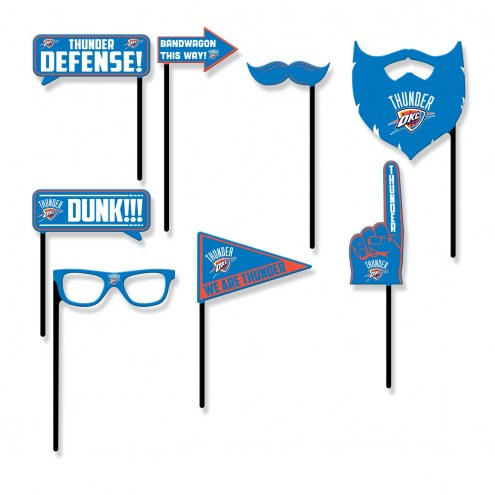 Oklahoma City Thunder Party Props Selfie Kit