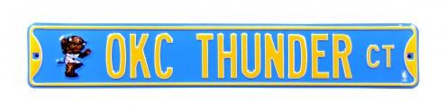 Oklahoma City Thunder Rumble Street Sign