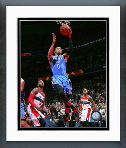 Oklahoma City Thunder Russell Westbrook Action Framed Photo