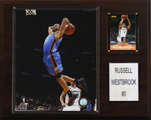 "Oklahoma City Thunder Russell Westbrook 12"" x 15"" Player Plaque"