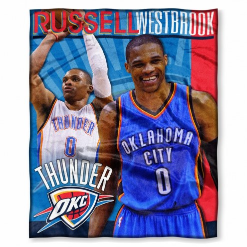 Oklahoma City Thunder Russell Westbrook Silk Touch Blanket