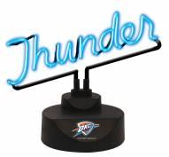 Oklahoma City Thunder Script Neon Desk Lamp