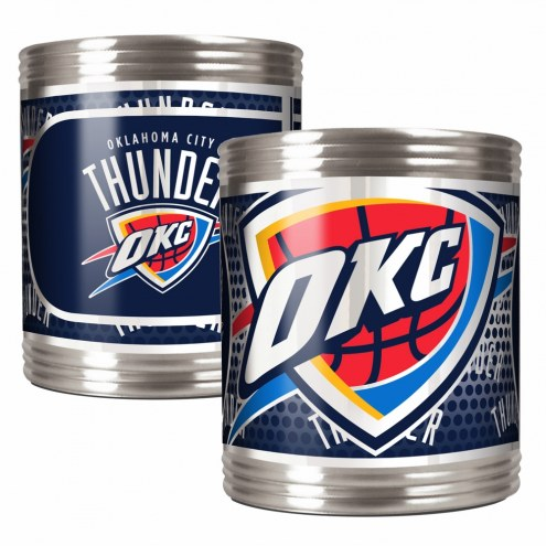 Oklahoma City Thunder Stainless Steel Hi-Def Coozie Set