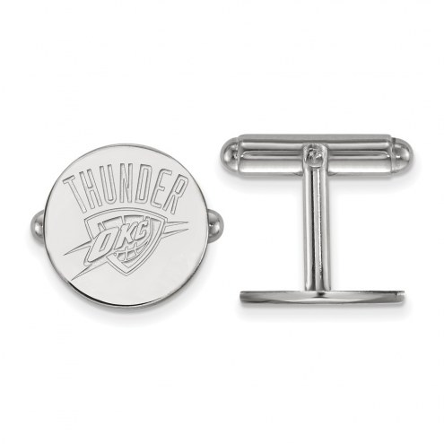 Oklahoma City Thunder Sterling Silver Cuff Links