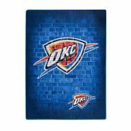 Oklahoma City Thunder Street Raschel Throw Blanket