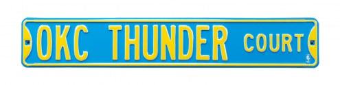 Oklahoma City Thunder Street Sign