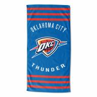 Oklahoma City Thunder Stripes Beach Towel
