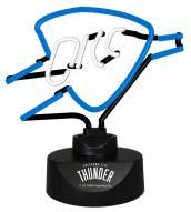 Oklahoma City Thunder Team Logo Neon Lamp