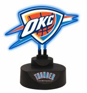 Oklahoma City Thunder Team Logo Neon Light