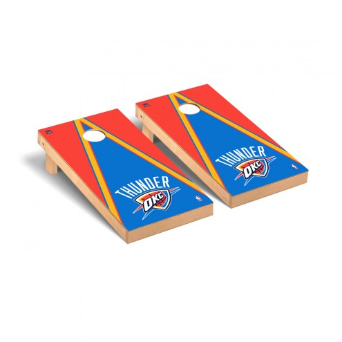Oklahoma City Thunder Triangle Cornhole Game Set