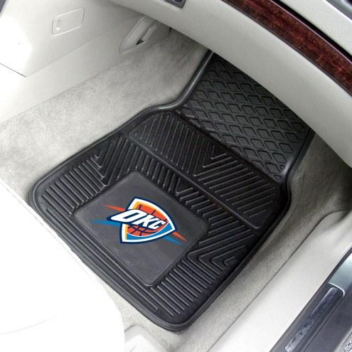 Oklahoma City Thunder Vinyl 2-Piece Car Floor Mats
