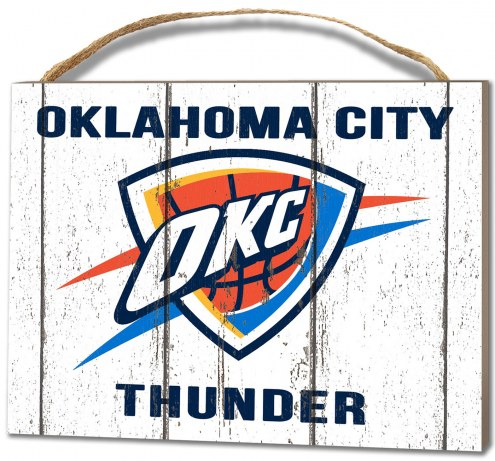 Oklahoma City Thunder Weathered Logo Small Plaque