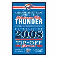 Oklahoma City Thunder Established Wood Sign