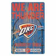 Oklahoma City Thunder Slogan Wood Sign