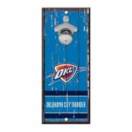 Oklahoma City Thunder Wood Bottle Opener