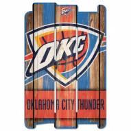 Oklahoma City Thunder Wood Fence Sign