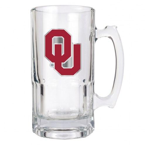 Oklahoma Sooners College 1 Liter Glass Macho Mug