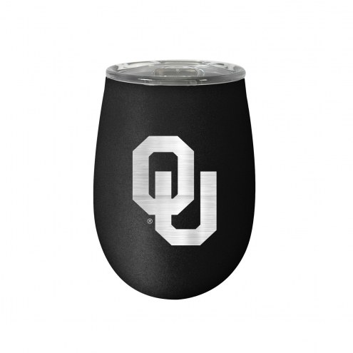 Oklahoma Sooners 10 oz. Stealth Blush Wine Tumbler