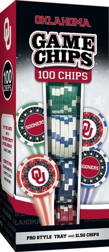 Oklahoma Sooners 100 Piece Poker Chips