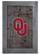 "Oklahoma Sooners 11"" x 19"" City Map Framed Sign"