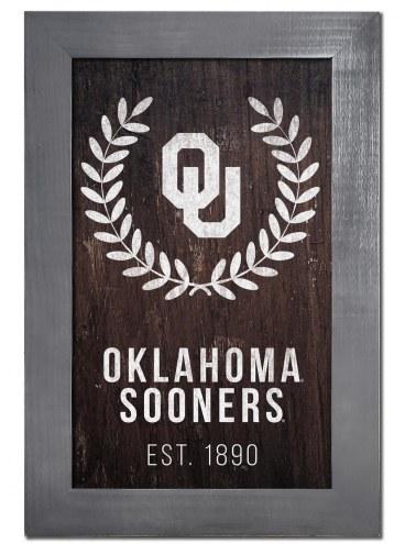 "Oklahoma Sooners 11"" x 19"" Laurel Wreath Framed Sign"