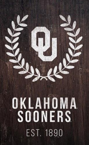 "Oklahoma Sooners 11"" x 19"" Laurel Wreath Sign"