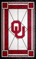 """Oklahoma Sooners 11"""" x 19"""" Stained Glass Sign"""