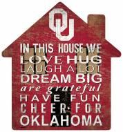 "Oklahoma Sooners 12"" House Sign"