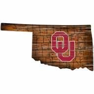 "Oklahoma Sooners 12"" Roadmap State Sign"