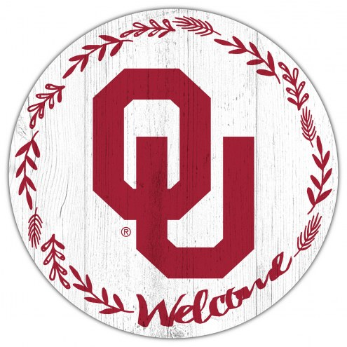 """Oklahoma Sooners 12"""" Welcome Circle Sign"""