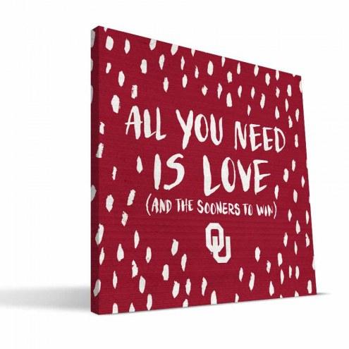 "Oklahoma Sooners 12"" x 12"" All You Need Canvas Print"