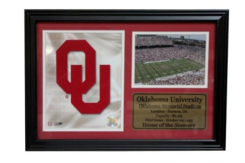"Oklahoma Sooners 12"" x 18"" Photo Stat Frame"